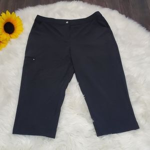 Chico's Weekends Capris Black Soft Silky Size 2